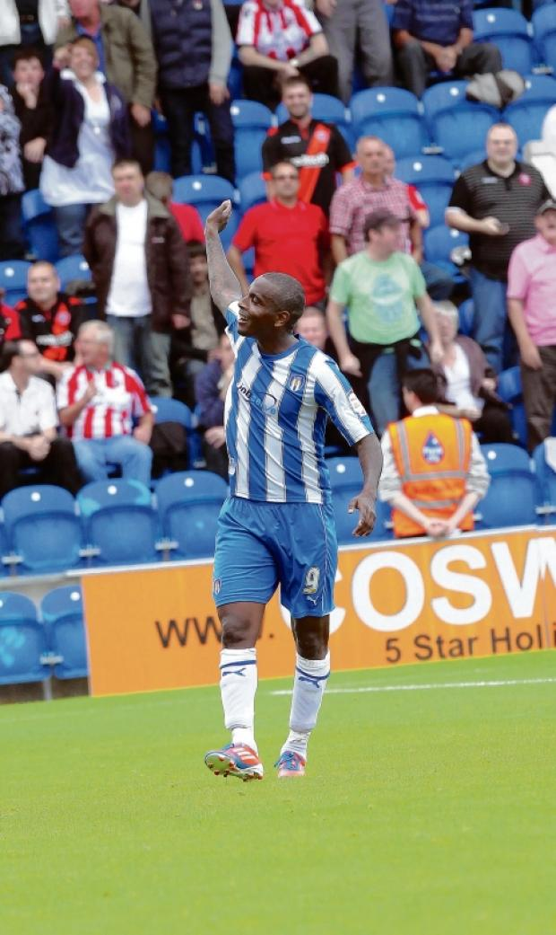 Celebration - U's striker Clinton Morrison enjoys his equaliser against Sheffield United. Picture: ADRIAN RUSHTON (CO68719-239)