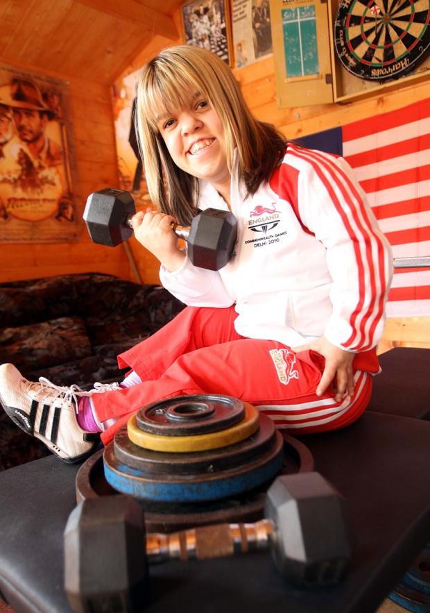 Zoe Newson in shock after bronze medal powerlifting win