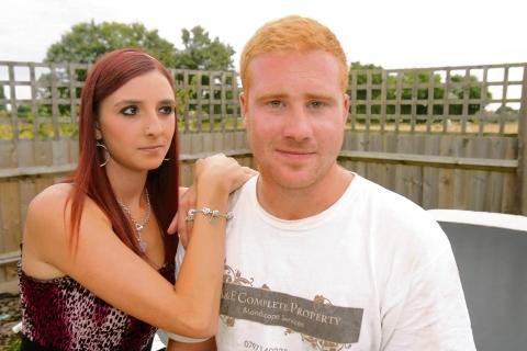 'Bad boyfriend' Adam Wren with fiancee Emma Brough