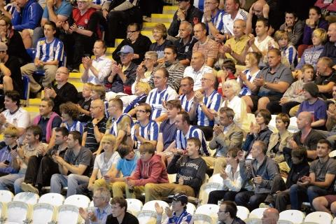 Colchester United fans at the first home game of the season