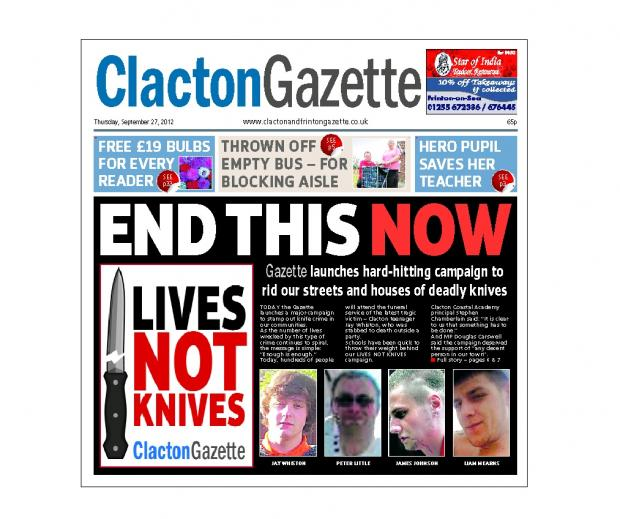 In this week's Clacton Gazette.
