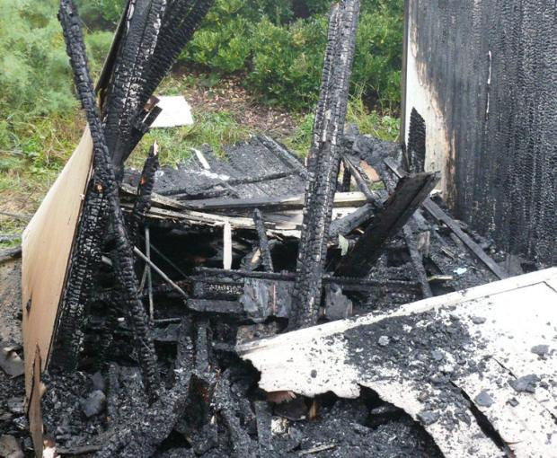 Investigation launched following suspected beach hut arson