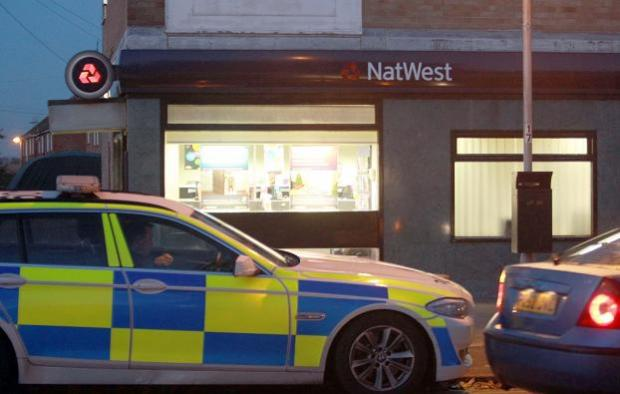 The scene outside Natwest in Great Clacton on Wednesday evening