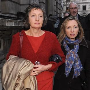 Pat Finucane's widow Geraldine arrives with her daughter Katherine to read the review of the report into th