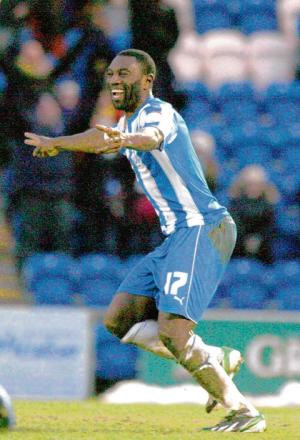 Source of hope - Colchester United will be hoping that striker Jabo Ibehre maintains his good form for them over the coming weeks.