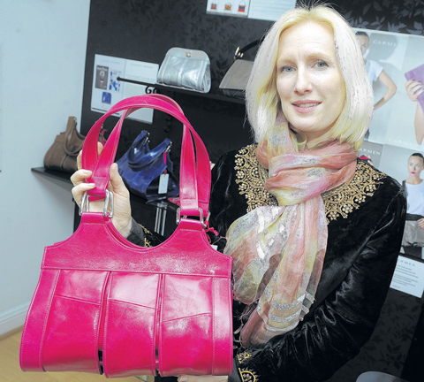 Smart – Carmen Woods with one of her handbags