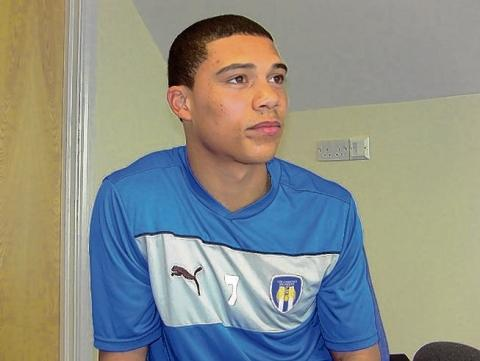 Challenge - Bradley Garmston is hoping to make his league debut after signing on loan at Colchester United from West Bromwich Albion. Picture: www.cu-fc.com