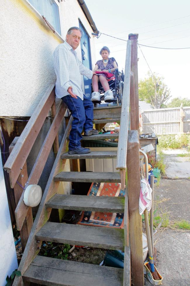 Stairlift wait continues for frustrated couple