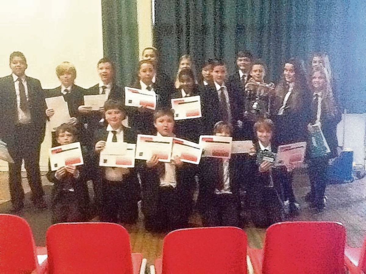 Top achievers at Thorpe school rewarded for reading success