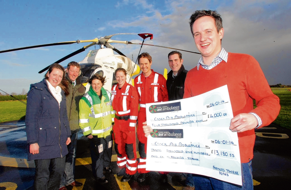 Angle grinder accident survivor raises thousands for Essex Air Ambulance