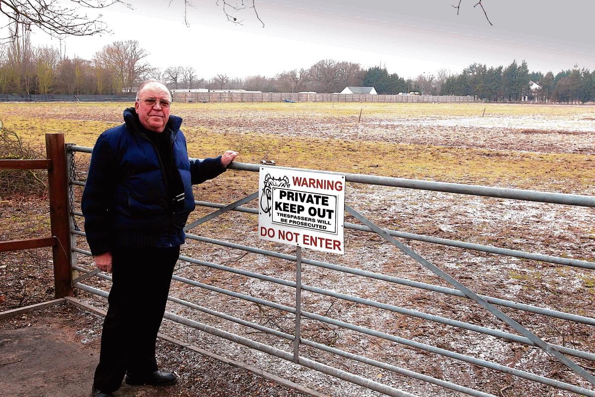 Councillor Peter Balbirnie at the Weeley site.