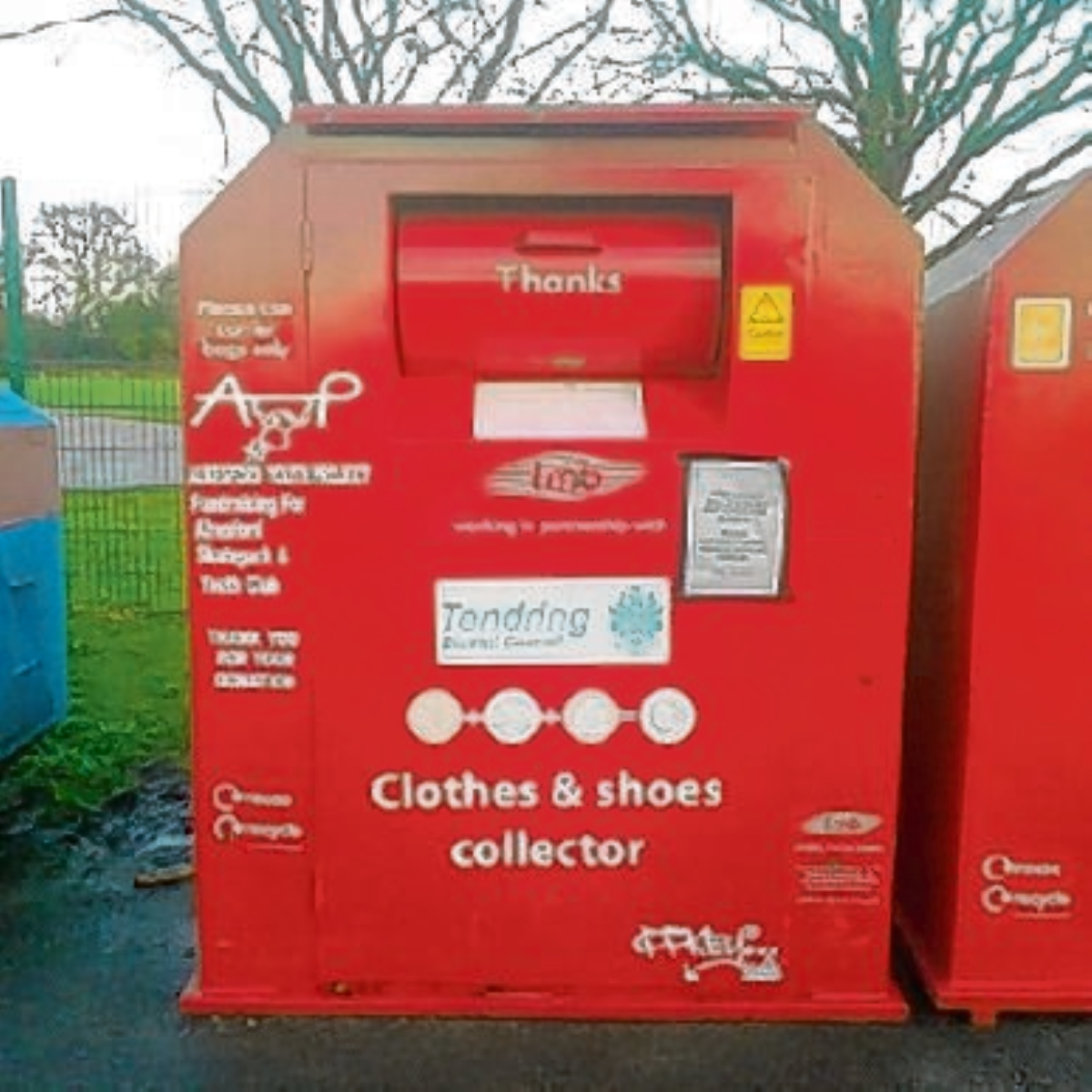 Clothing bin to raise cash for youth projects