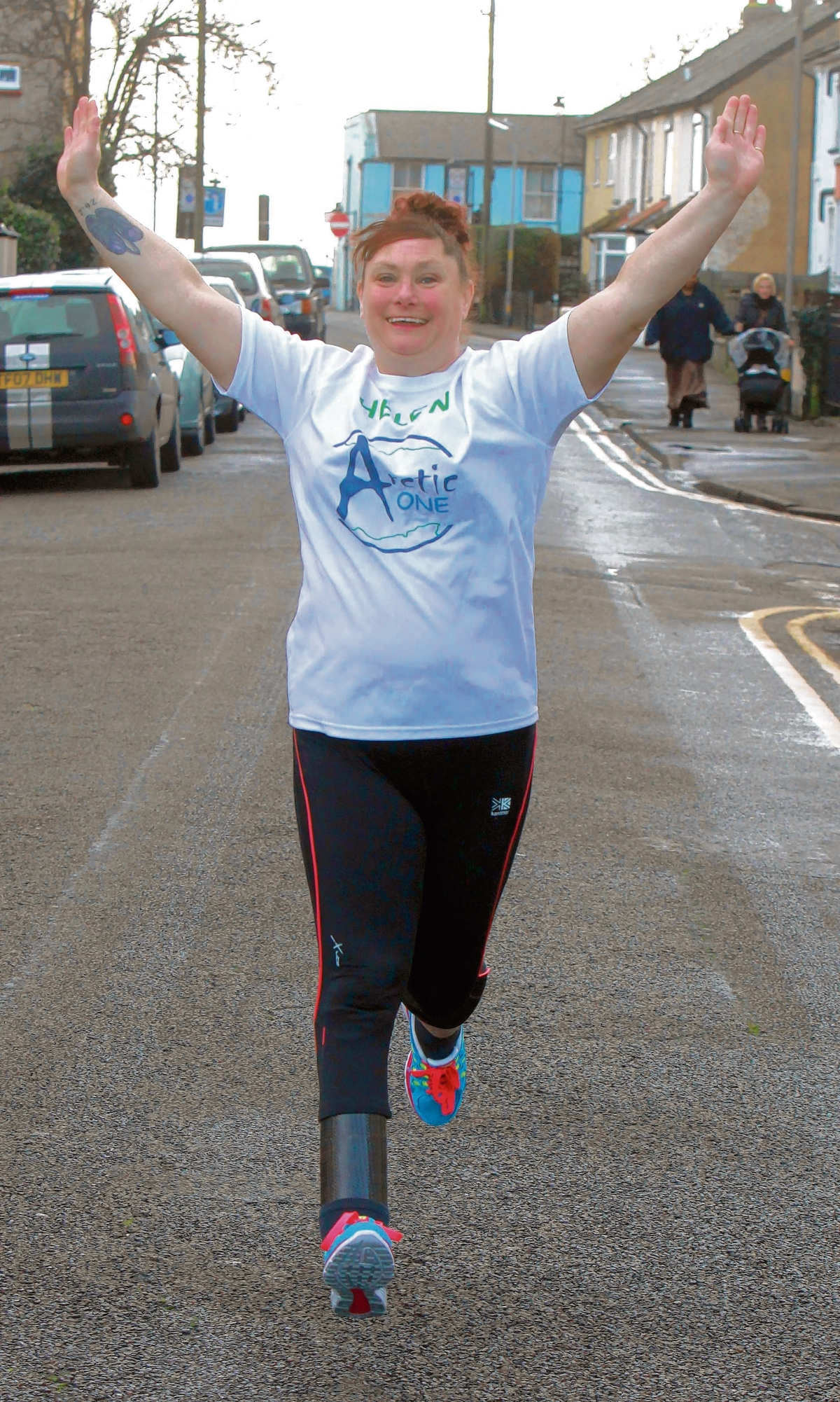 Amputee Helen close to running blade dream