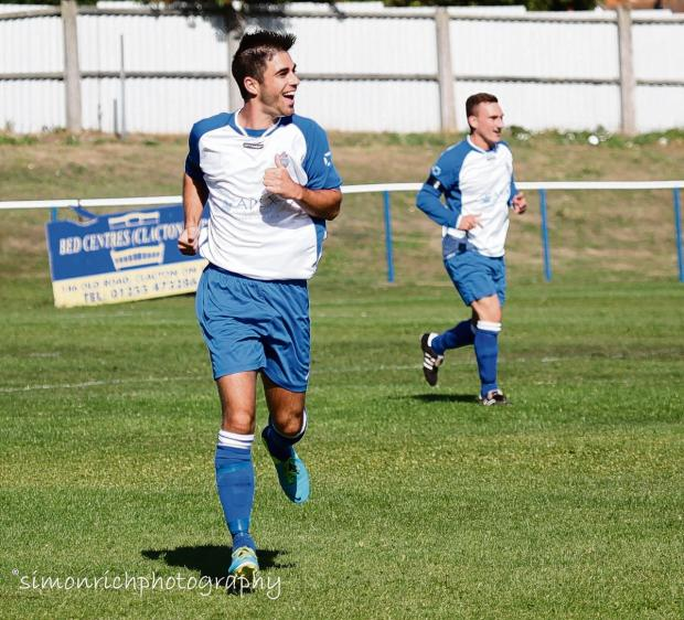 Aaron Condon and his FC Clacton team-mates will be without a game tomorrow following the postponement of the club's match at home to Brantham.