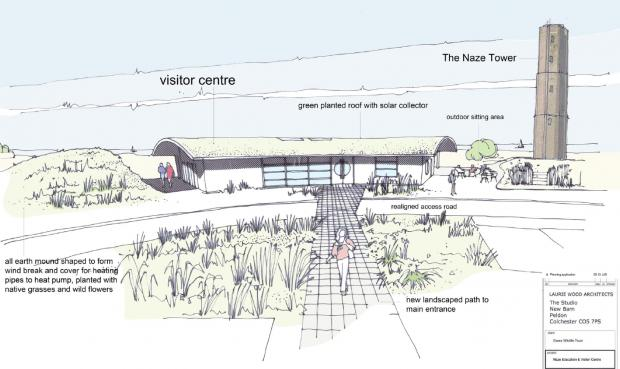 The proposed Naze Education and Visitor Centre by Laurie Wood Architects