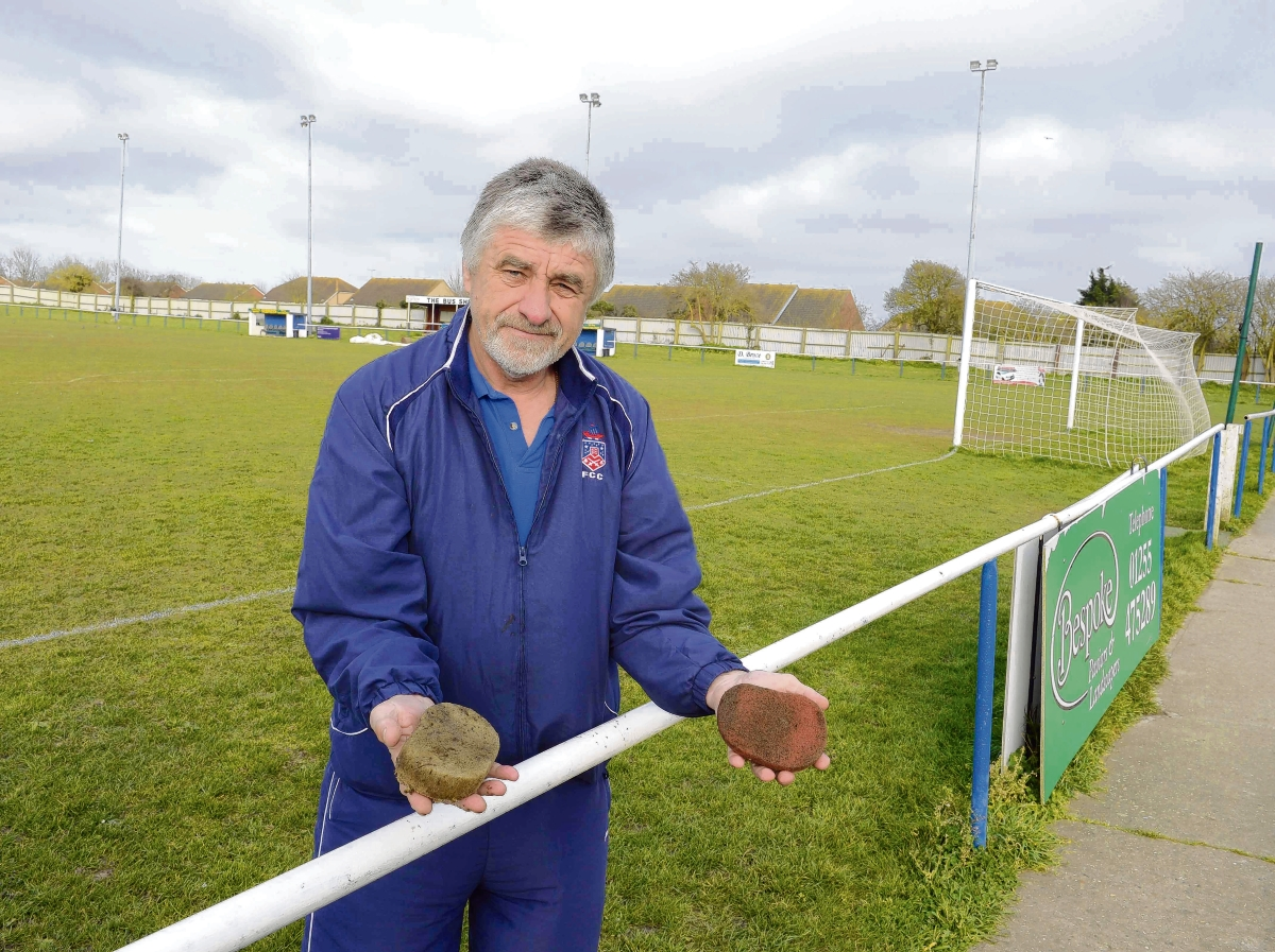Groundsman's buckets stolen by crooks