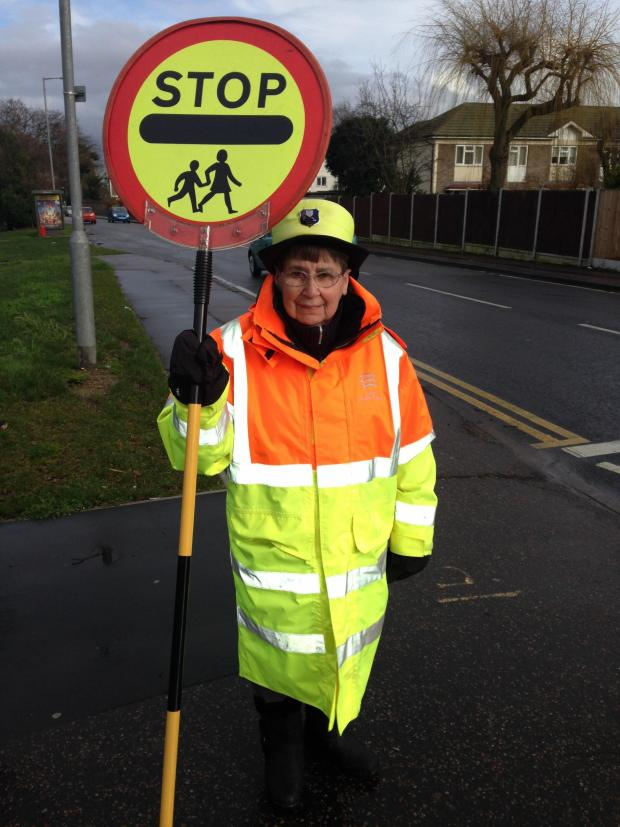 Clacton and Frinton Gazette: A lollipop lady at Cherry Tree Primary School