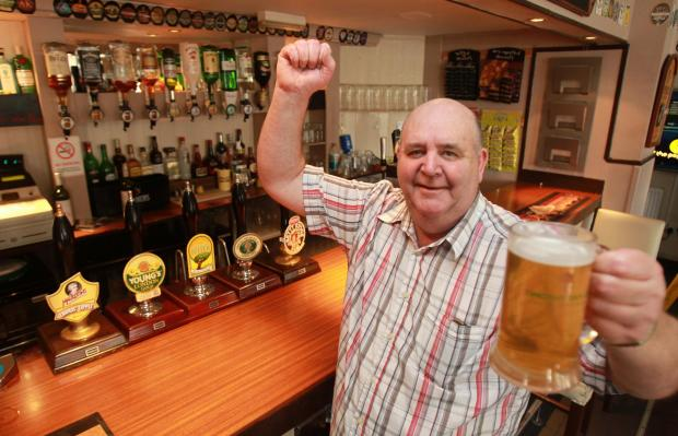 Toasting success - Old Lifeboat House landlord Ron Stephenson