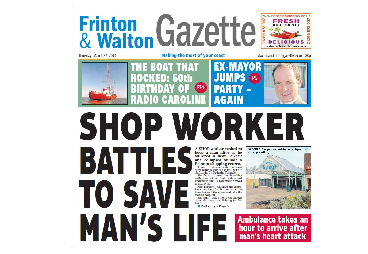 In this week's Clacton and Frinton Gazette