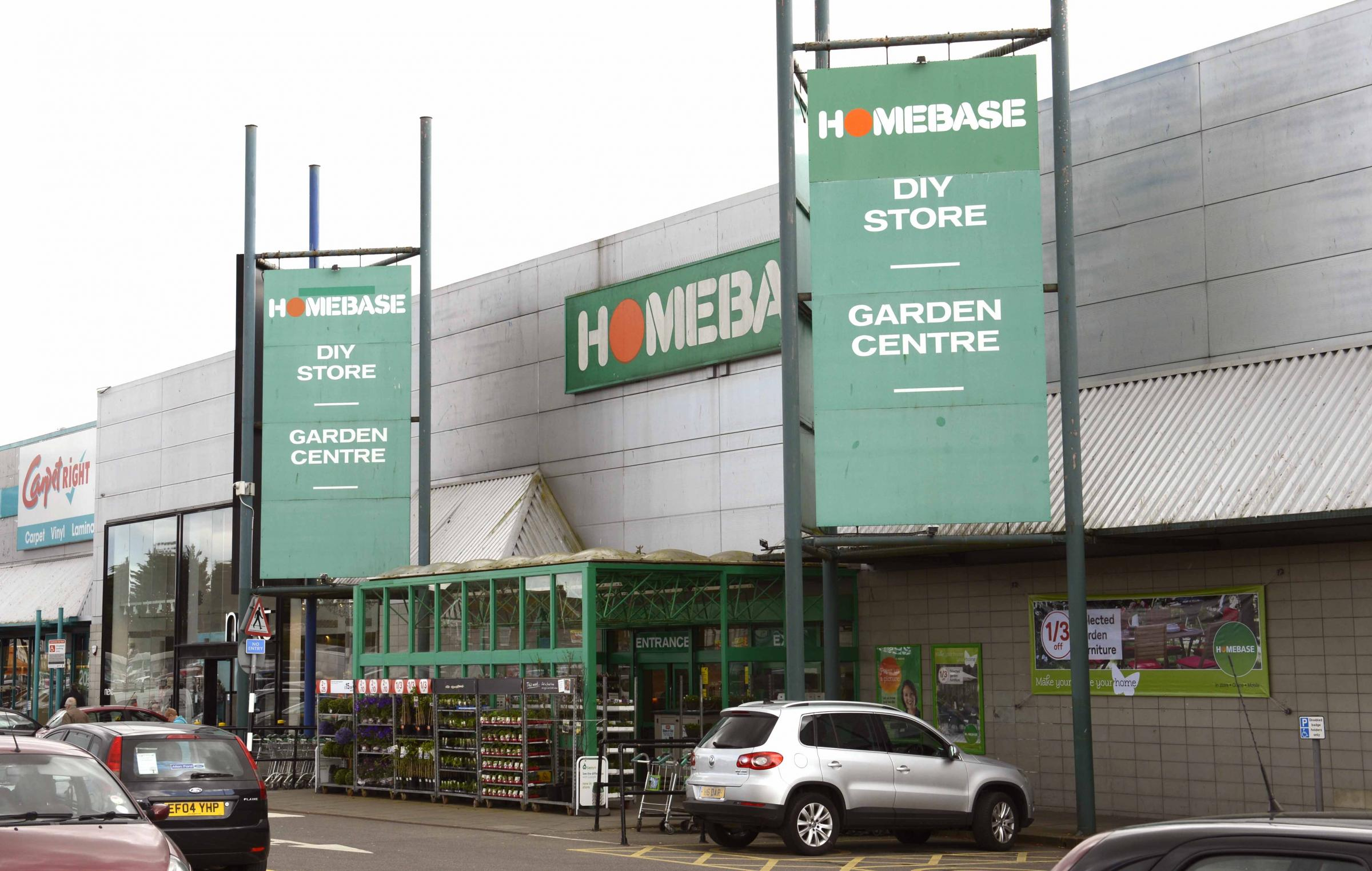 The old Homebase store, now closed