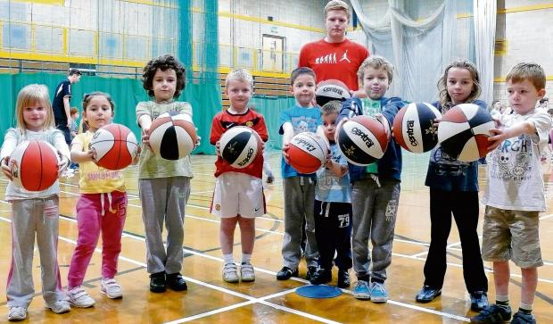 Budding basketball stars take part in special camp