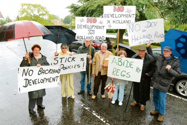 Residents hit out at councillor's plan to build six homes on bungalow site