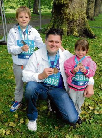 Runner takes on two events in two days for children's hospital