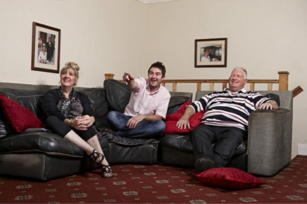 George and his parents on hit show Gog