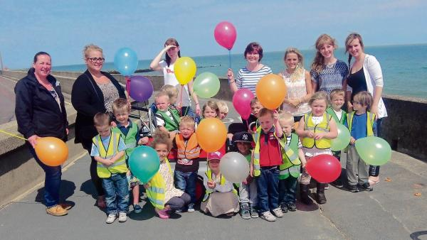 Some of the Letterbox nursery walkers celebrate successful fundraiser