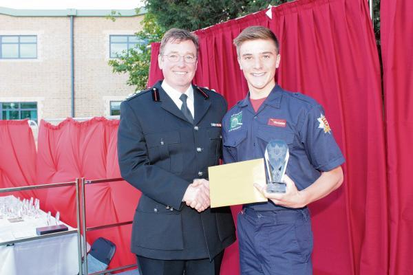 Fire cadet Brogan Bates picks up award