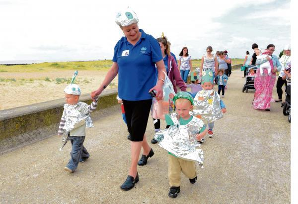 Clacton and Frinton Gazette: Youngsters raise charity cash with space-themed toddle