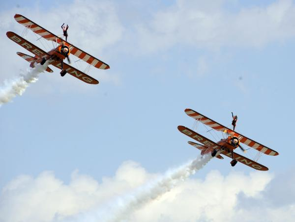 The Breitling Wingwalkers closed the second day of Clacton Air Show