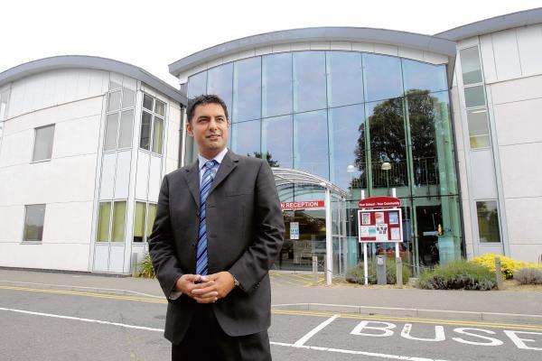 Colne Community School principal Nardeep Sharma