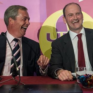 Clacton and Frinton Gazette: UKIP leader Nigel Farage (left) with Douglas Carswell who has defected from the Conservatives