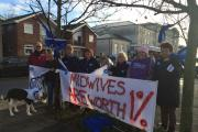 Angry midwives in Clacton join strike over pay dispute