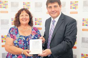 Sharon picks up top award for her work in education