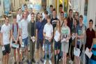 TOP CLASS: Pupils at Clacton County High School celebrate their GCSE results.