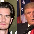 Clacton and Frinton Gazette: Donald Trump needs a kiss to calm down, actor Andrew Garfield says
