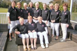 Winning team - Clacton's victorious Essex County Bronze golfers and their caddies, following the match against Basildon