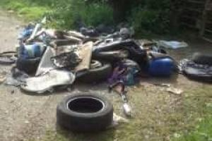 Waste dumped in Little Bromley