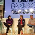 Clacton and Frinton Gazette: Richard Bacon (right) with judges and presenters for The Great British Bake Off (from left) Sandi Toksvig, Noel Fielding, Prue Leith and Paul Hollywood at Channel 4 studios in central London (PA)