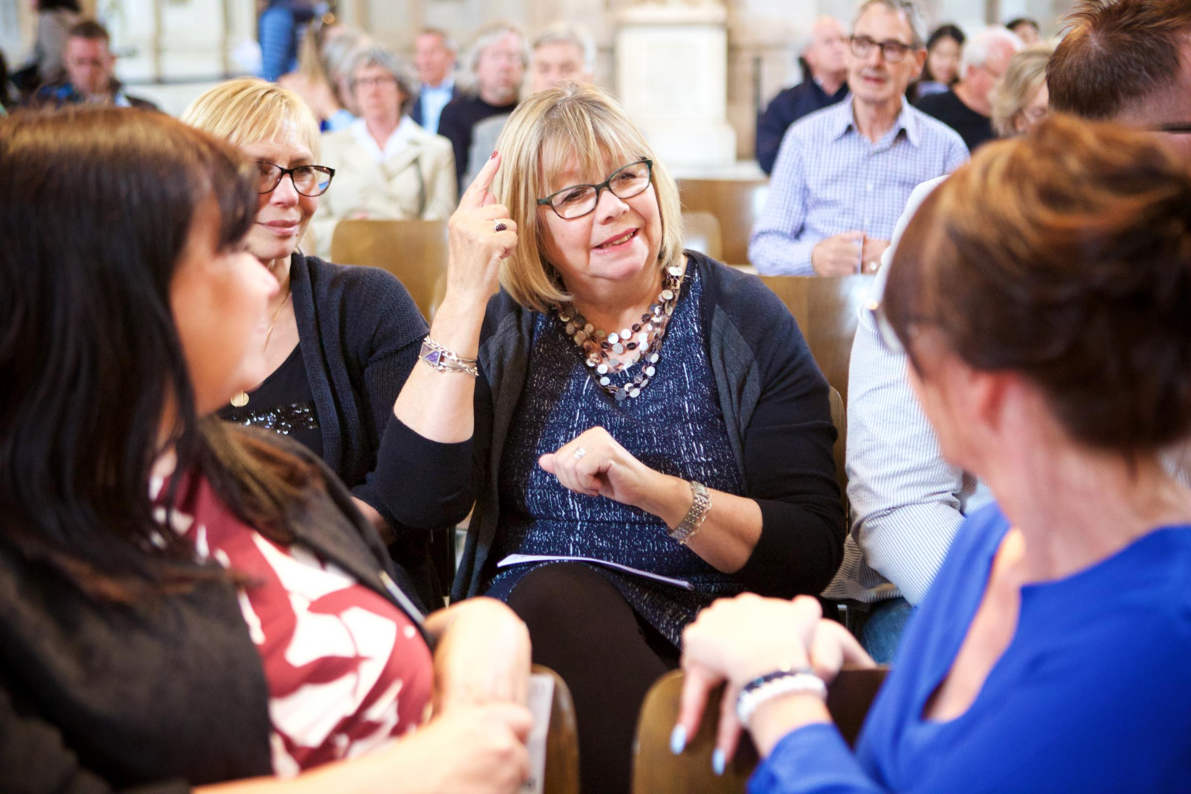 A woman using BSL. Picture: Royal Association for Deaf People