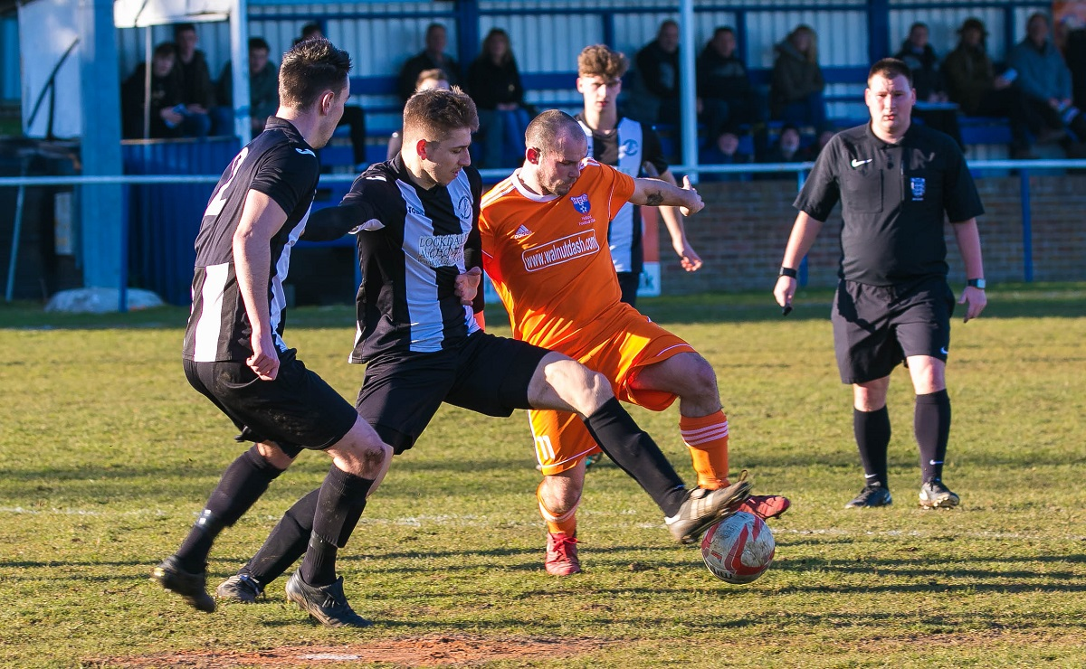 Steve Eaton was among Holland's goalscorers at Whitton United on Wednesday Picture: Paul Leech