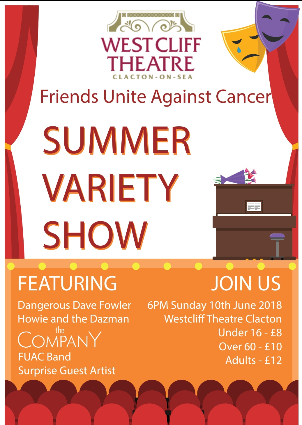 Friends Unite Against Cancer summer variety show 2018