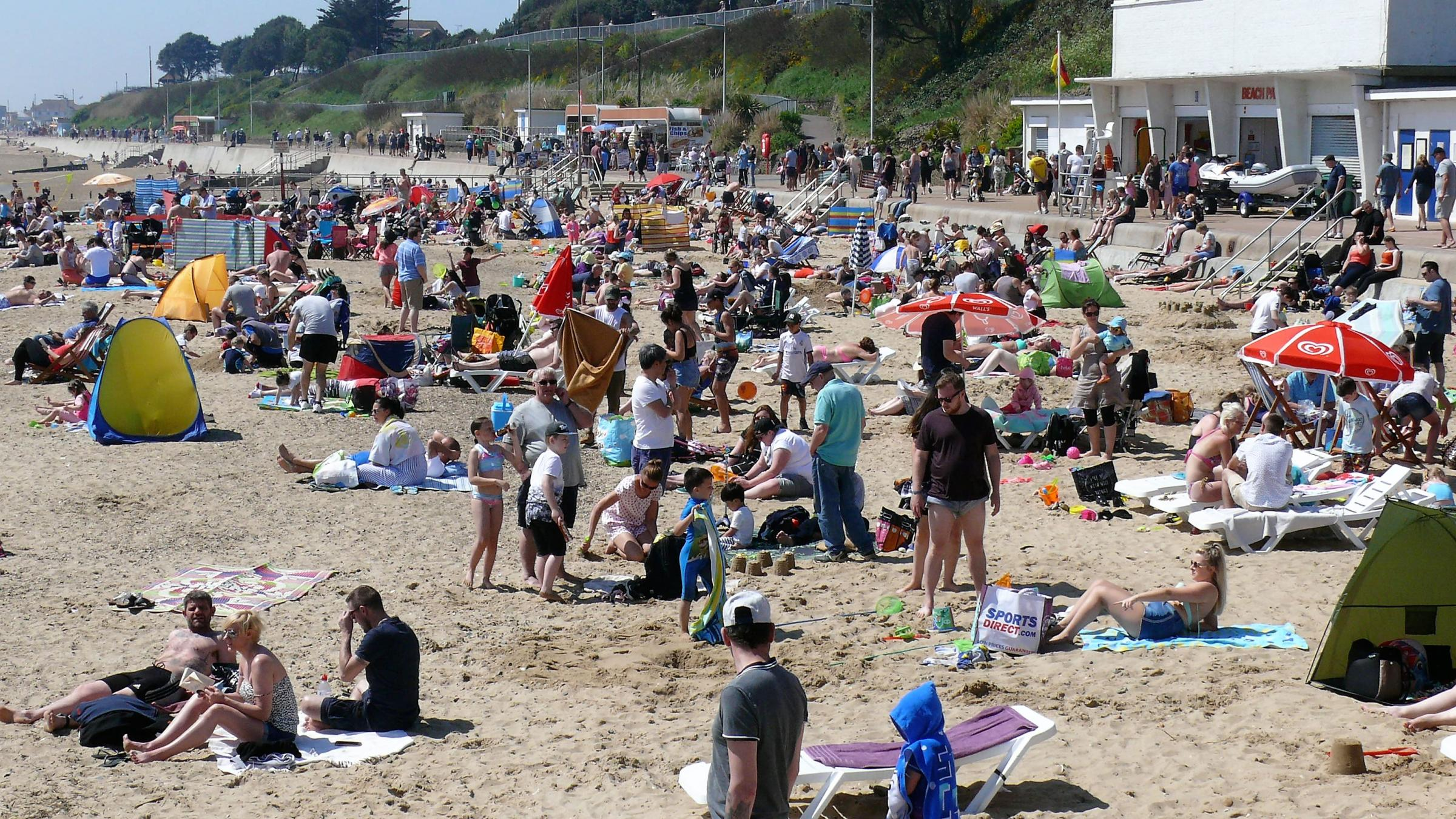 SUNSHINE COAST: Packed beaches were the order of the day over the bank holiday