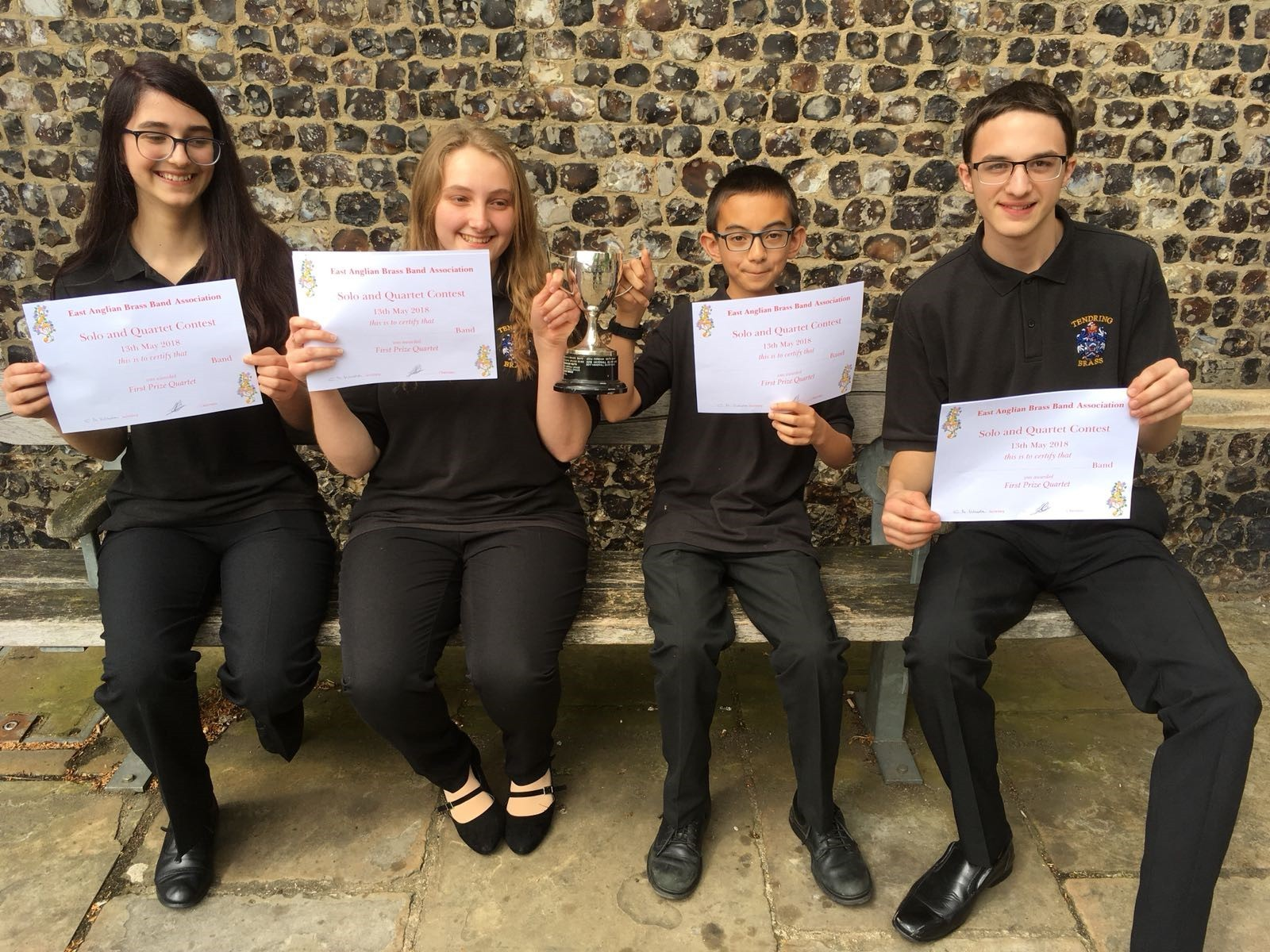 Tendring Brass quartet are top of the class