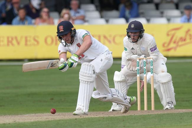 Century maker - Essex's Dan Lawrence on his way to making a ton for his side against Hampshire Picture: GAVIN ELLIS/TGS PHOTO