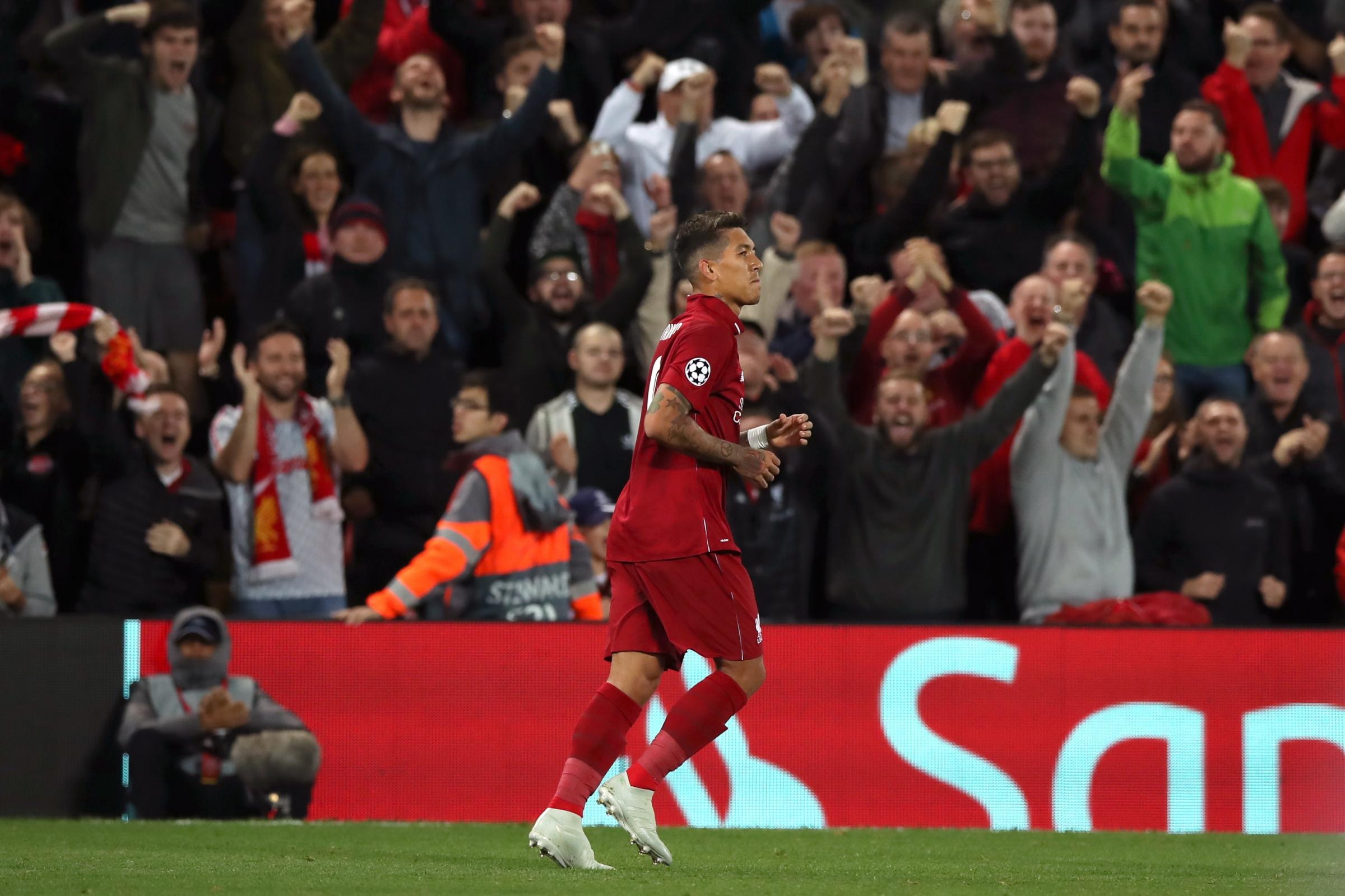 Roberto Firmino was Liverpool's match-winner against Paris St Germain after recovering from an eye injury.
