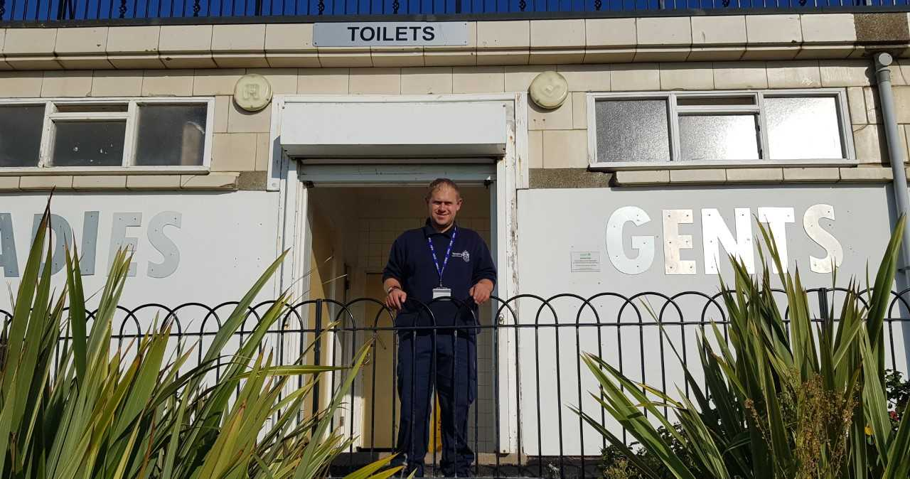 Hero cleaner helped to save man found unconscious in public toilets