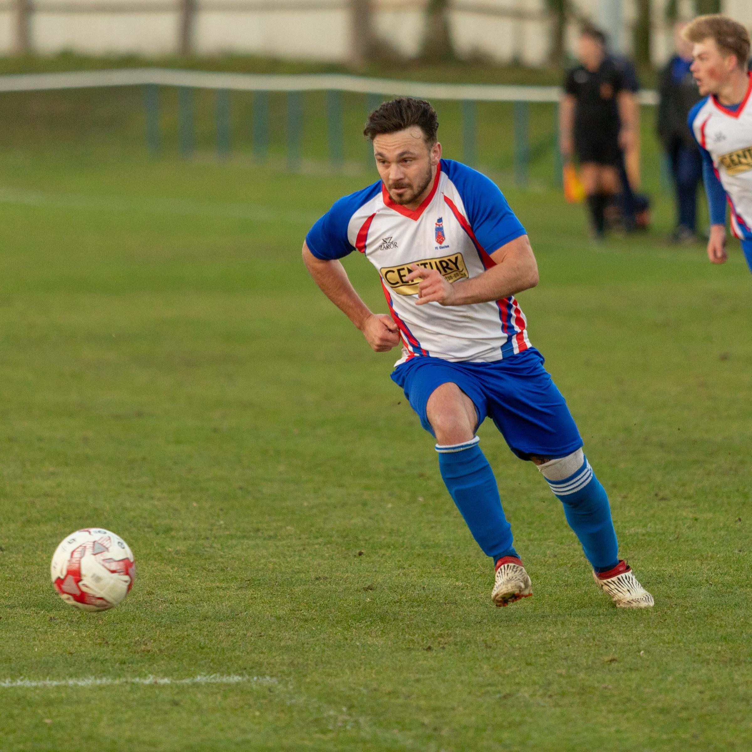 Another goal - Clacton striker Matt Eve Picture: Rob Smith (RJS Photography)